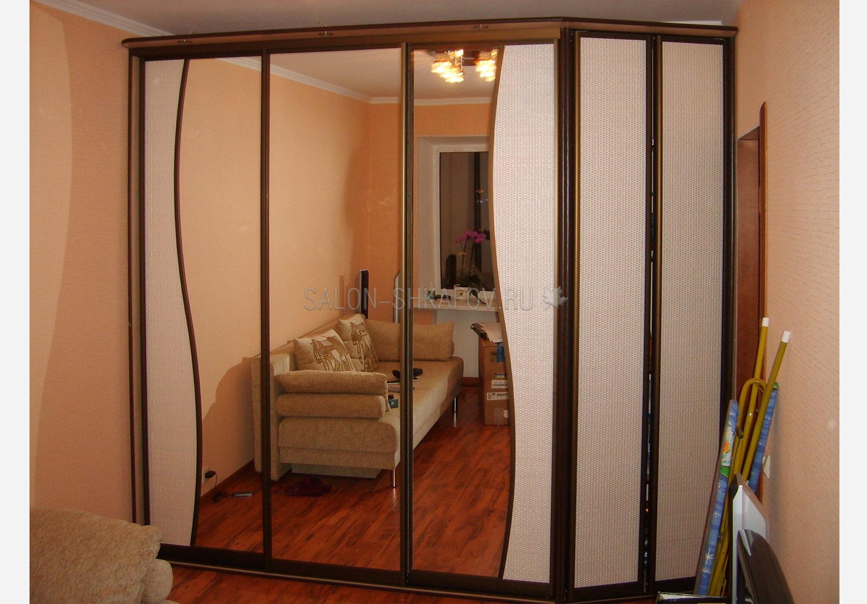 Шкаф купе 5ти дверный с белым ротангом - мебель и предметы и.